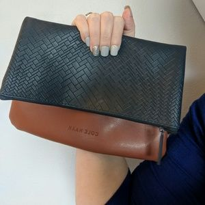 Cole Haan Leather Fold Clutch Tablet Case